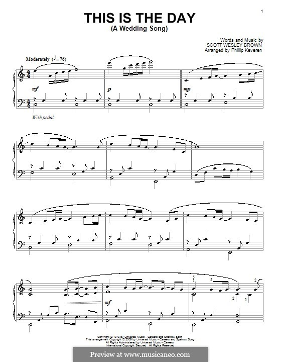 This Is the Day (A Wedding Song): Para Piano by Scott Wesley Brown