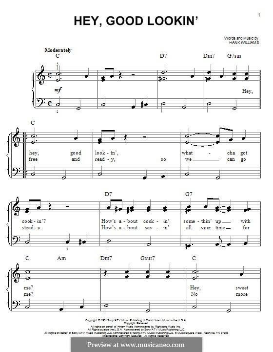 Hey, Good Lookin': Facil para o piano by Hank Williams