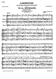 Five Contredanses, K.609: Five Contredanses by Wolfgang Amadeus Mozart