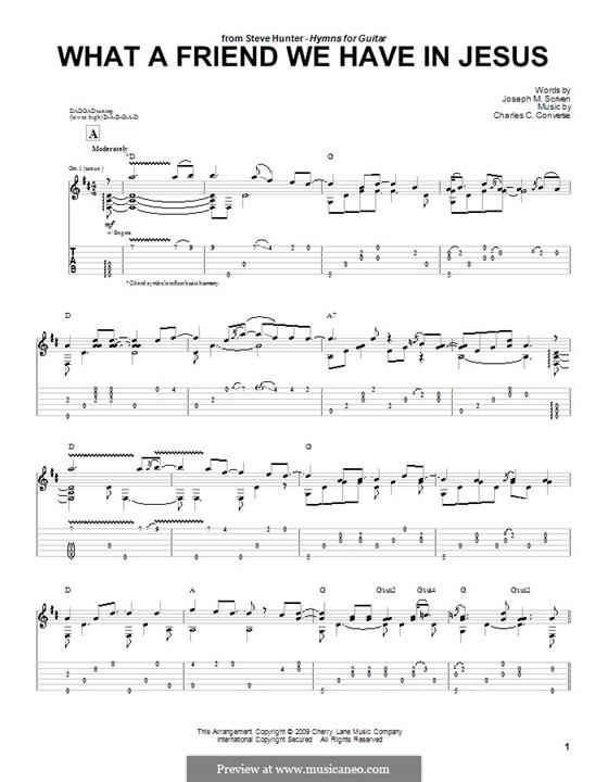 What a Friend We Have in Jesus (Printable): Para guitarra com guia by Charles Crozat Converse