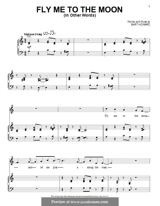Fly Me to the Moon (In Other Words): Para voz e piano ou guitarra (Steve Tyrell) by Bart Howard