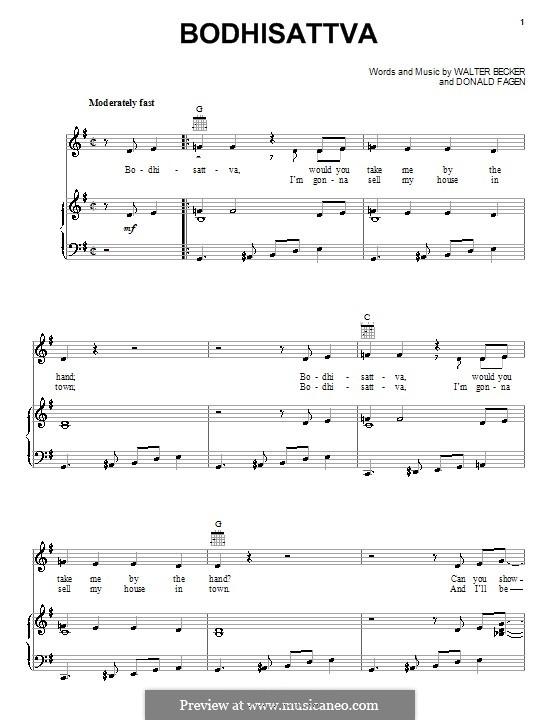 Bodhisattva (Steely Dan): Para vocais e piano (ou Guitarra) by Donald Fagen, Walter Becker