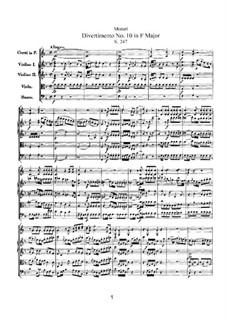 Divertissement in F Major, K.247: Divertissement in F Major by Wolfgang Amadeus Mozart