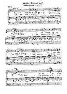 Dans un bois, K.308: Partitura Piano-vocal by Wolfgang Amadeus Mozart