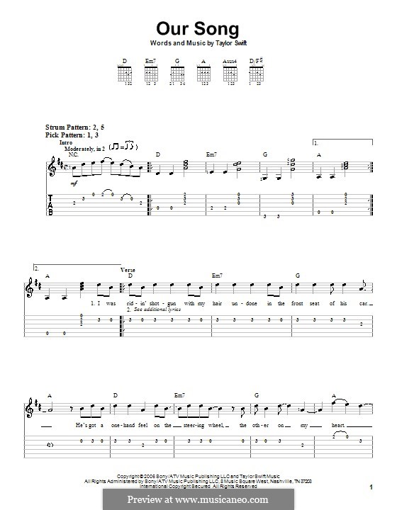 Our Song: Para Guitarra by Taylor Swift
