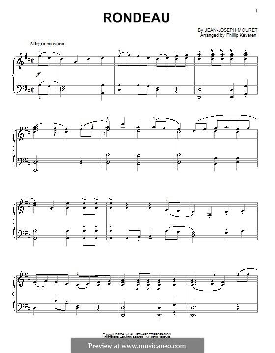 Rondo (Rondeau): Para Piano by Jean-Joseph Mouret
