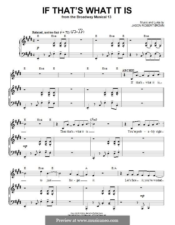 If That's What It Is: Para vocais e piano (ou Guitarra) by Jason Robert Brown