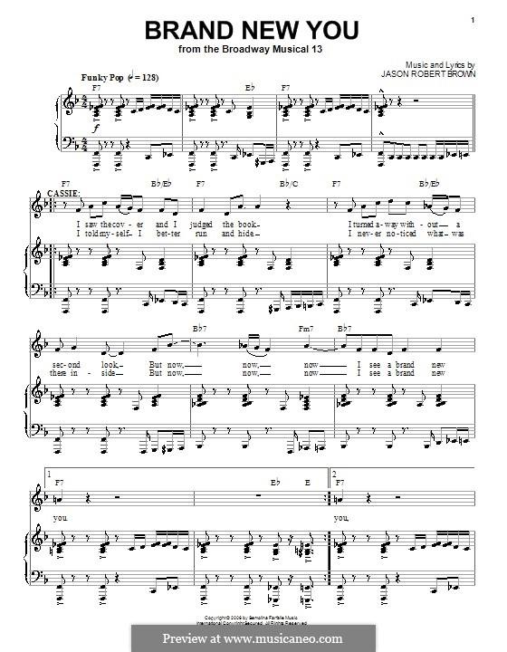 Brand New You: Para vocais e piano (ou Guitarra) by Jason Robert Brown