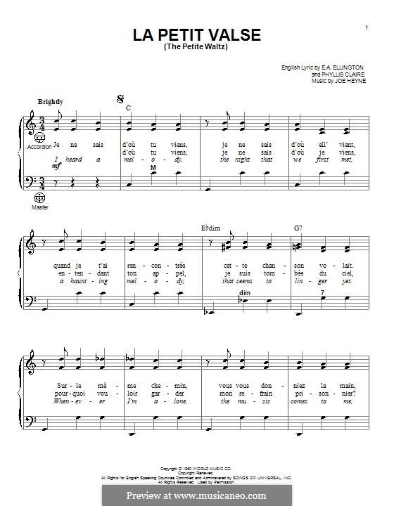 The Petite Waltz: para acordeão by E. A. Ellington, Joe Heyne, Phyllis Claire