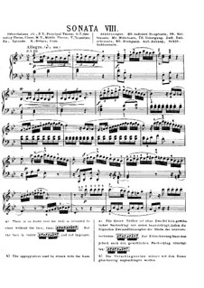 Sonata for Piano No.3 in B Flat Major, K.281: para dedilhado by Wolfgang Amadeus Mozart