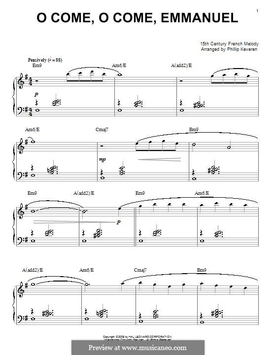 O Come, O Come, Emmanuel, for Piano: para um único musico (Editado por H. Bulow) by folklore
