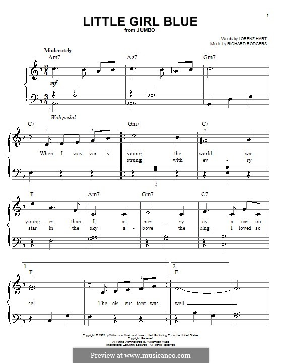 Little Girl Blue: Facil para o piano by Richard Rodgers