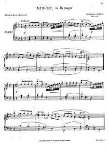 Minuet in B Flat Major: Minuet in B Flat Major by Gottlieb Muffat