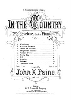Ten Sketches, Op.26: No.1 Woodnotes by John Knowles Paine