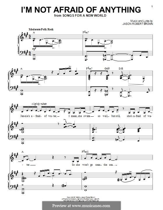I'm Not Afraid of Anything: Para vocais e piano (ou Guitarra) by Jason Robert Brown