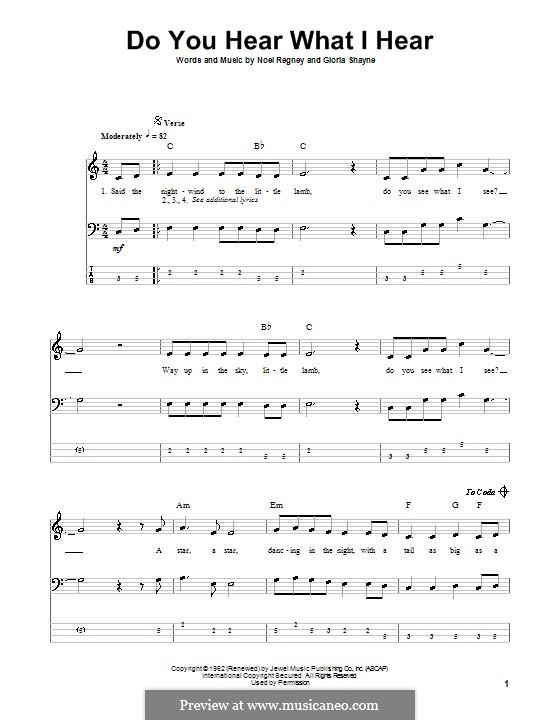 Do You Hear What I Hear: para baixo com guia by Gloria Shayne, Noël Regney
