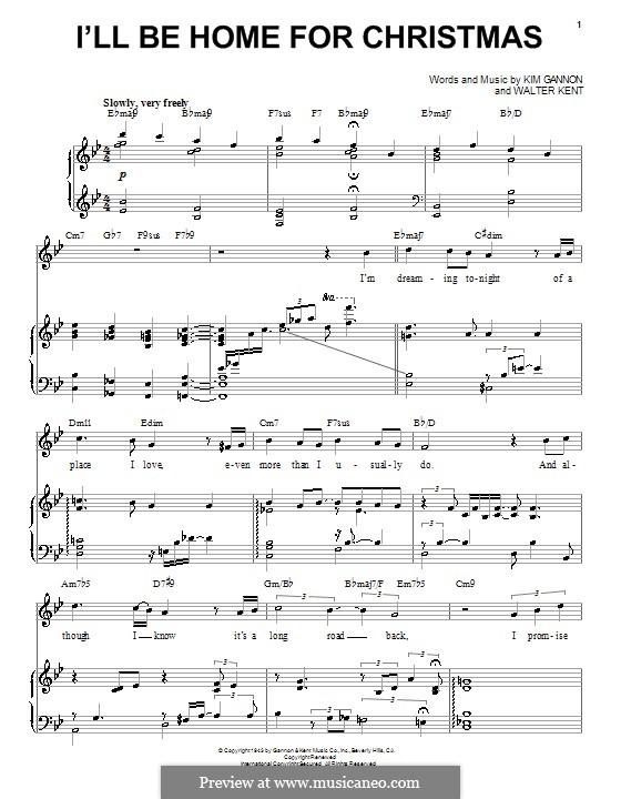 I'll Be Home for Christmas: para voz e piano ou guitarra (Michael Buble) by Kim Gannon, Walter Kent