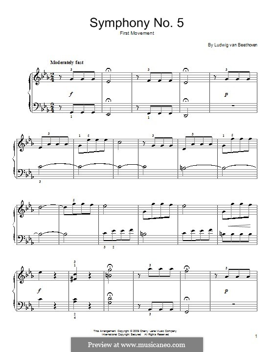 Movement I: versão para piano by Ludwig van Beethoven