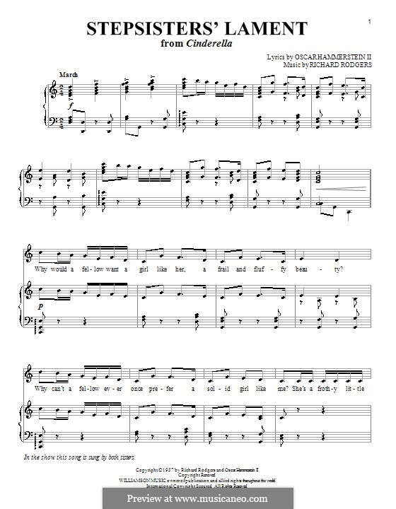Stepsisters' Lament (from Cinderella): para vocais,piano ou guitarra by Richard Rodgers