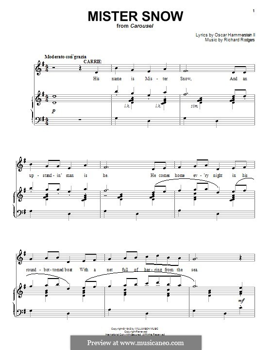 Mister Snow (from Carousel): para vocais,piano ou guitarra by Richard Rodgers