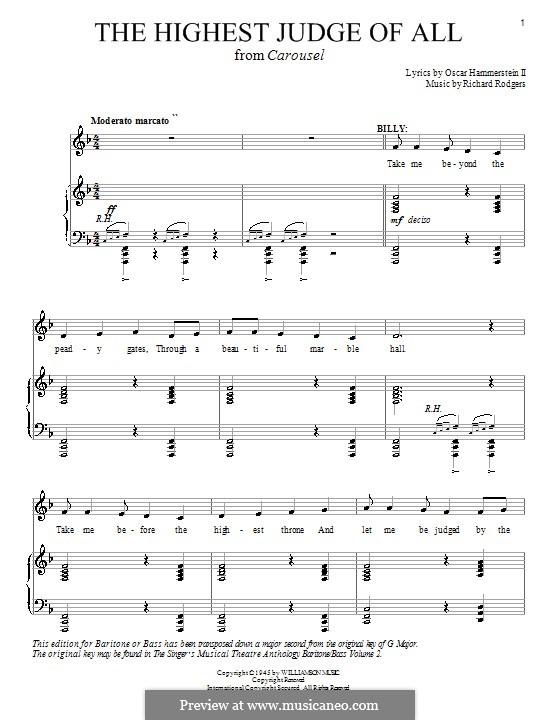 The Highest Judge of All: Para vocais e piano (ou Guitarra) by Richard Rodgers