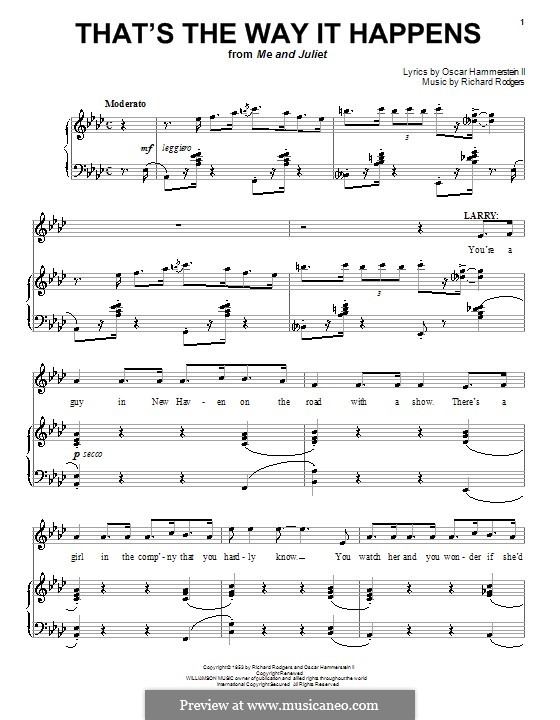 That's the Way it Happens: Para vocais e piano (ou Guitarra) by Richard Rodgers