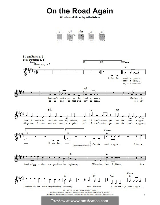 On the Road Again: Para guitarra (versão facil) by Willie Nelson