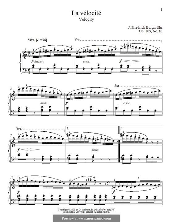 Etude No.10: Para Piano by Johann Friedrich Burgmüller