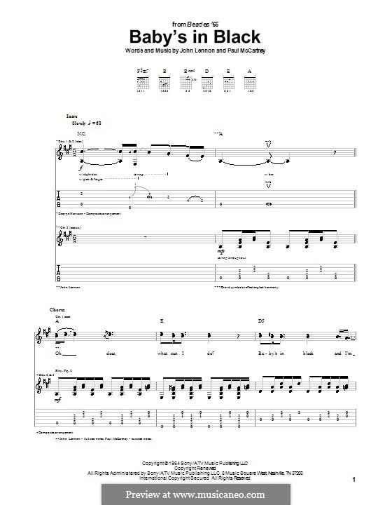 Baby's in Black (The Beatles): Para guitarra com guia by John Lennon, Paul McCartney