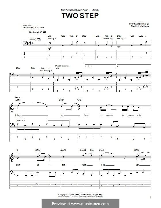 Two Step Dave Matthews Band Por D J Matthews Partituras On Músicaneo