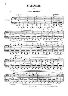 Villanelle, Op.40: Villanelle by Émile Prudent