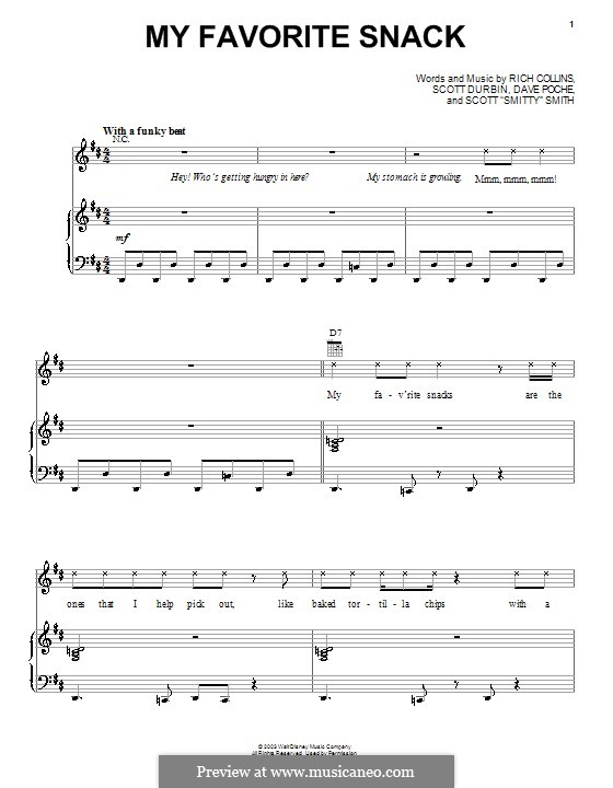 My Favorite Snack (Imagination Movers): Para vocais e piano (ou Guitarra) by Dave Poche, Rich Collins, Scott Durbin, Scott Smith