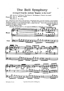 Rejoice in the Lord Alway. The Bell Symphony, Z.49: Rejoice in the Lord Alway. The Bell Symphony by Henry Purcell