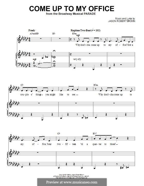 Come Up To My Office: Para vocais e piano (ou Guitarra) by Jason Robert Brown