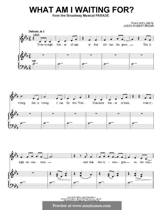 What am I Waiting for?: Para vocais e piano (ou Guitarra) by Jason Robert Brown