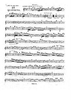 Woodwind Quintet in E Flat Major, Op.100 No.3: Partes by Anton Reicha