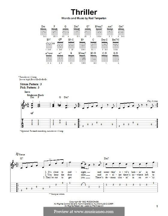 Vocal-instrumental version: facil para guitarra (com guia) by Rod Temperton