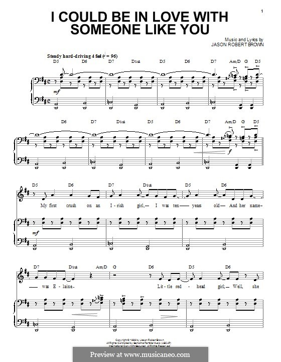 I Could Be in Love with Someone Like You: Para vocais e piano (ou Guitarra) by Jason Robert Brown