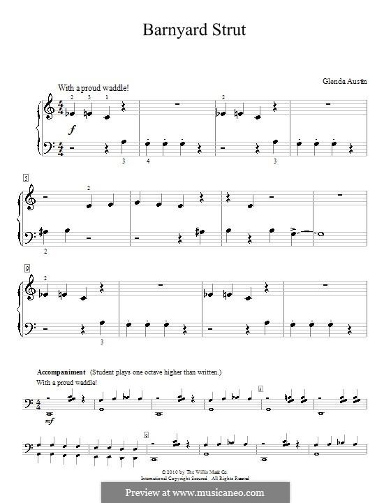 Barnyard Strut: Para Piano by Glenda Austin