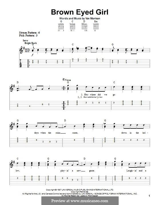 Brown Eyed Girl: Para guitarra (versão facil) by Van Morrison