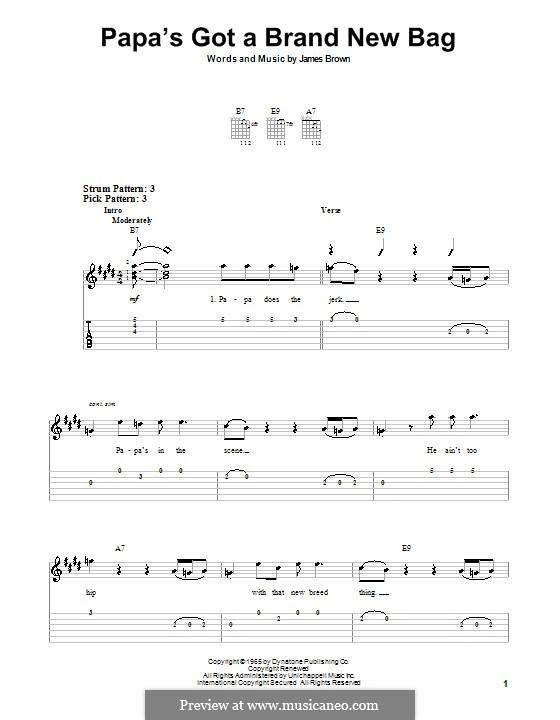 Papa's Got a Brand New Bag: Para guitarra (versão facil) by James Brown