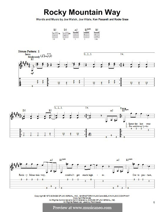 Rocky Mountain Way: guia facil de guitarra by Joe Vitale, Joe Walsh, Ken Passarelli, Rocke Grace