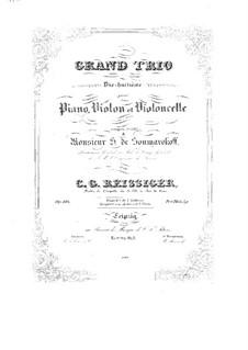Piano Trio No.18, Op.188: Piano Trio No.18 by Carl Gottlieb Reissiger