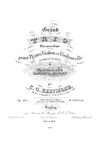 Piano Trio No.19, Op.192: Piano Trio No.19 by Carl Gottlieb Reissiger