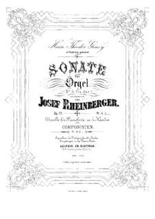 Sonata for Organ No.5, Op.111: Sonata for Organ No.5 by Josef Gabriel Rheinberger