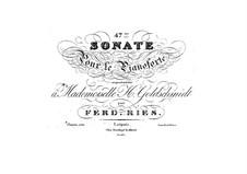 Piano Sonata No.47, Op.114: Piano Sonata No.47 by Ferdinand Ries