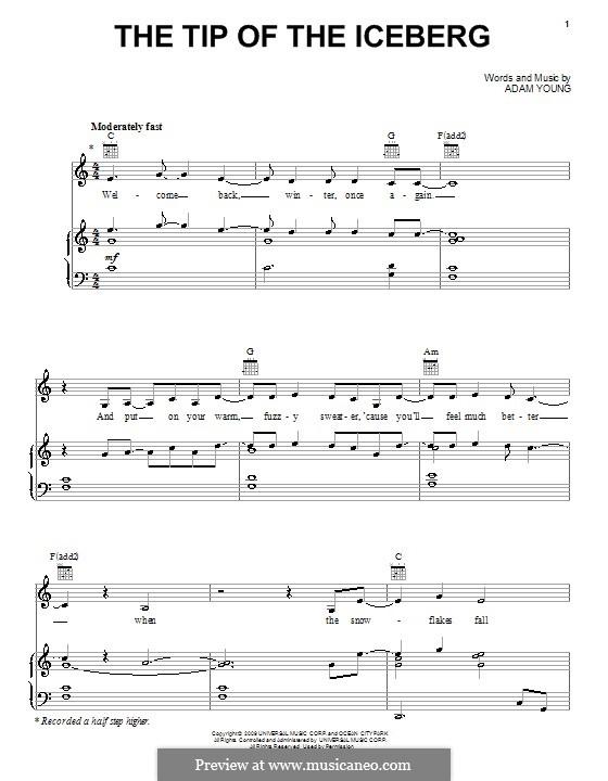 The Tip of the Iceberg (Owl City): Para vocais e piano (ou Guitarra) by Adam Young