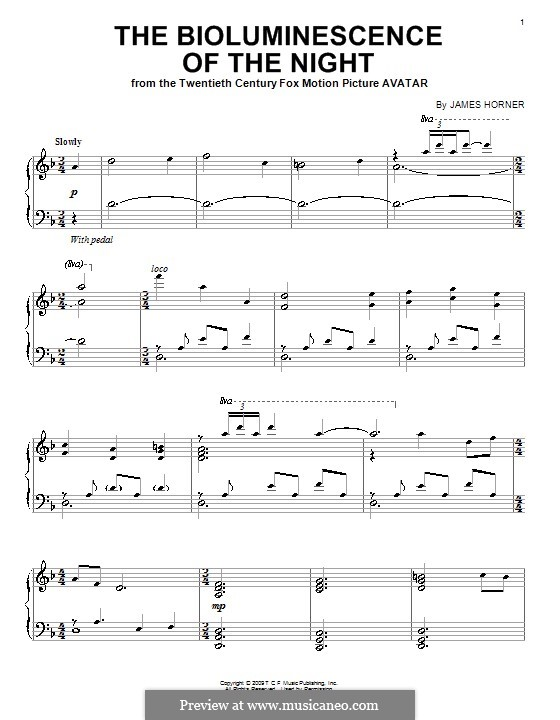The Bioluminescence of the Night: Para Piano by James Horner
