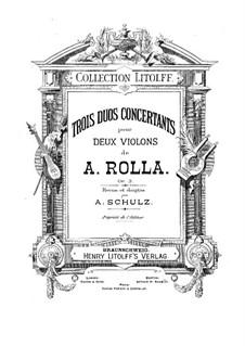 Three Concert Duos for Two Violins, BI 232, 143, 216 Op.3: Concerto de três Duos para Dois Violinos by Alessandro Rolla