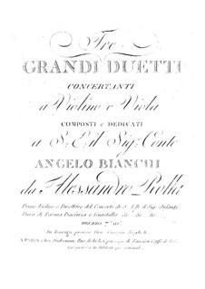 Three Concert Duos for Violin and Viola, BI 58, 75, 69 Op.11: Three Concert Duos for Violin and Viola by Alessandro Rolla